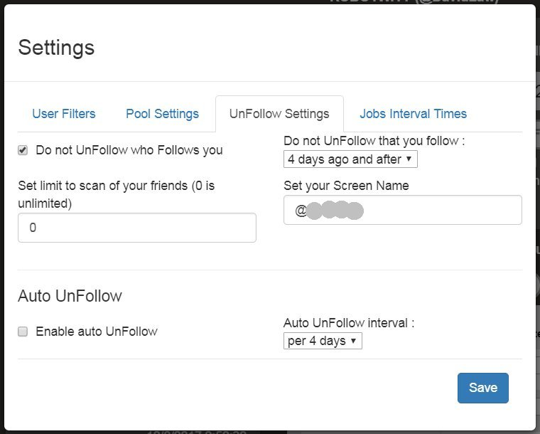 Robotwity Unfollow Settings