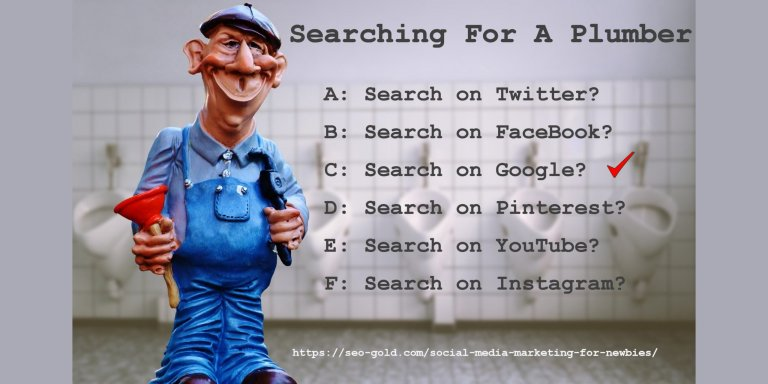 Searching for a Plumber on Social Media