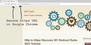 Secure https URL in Google Chrome