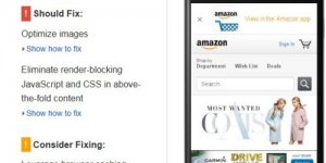 Amazon PageSpeed Insights SEO Check