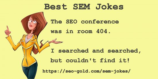 SEO Conference Room 404 Joke