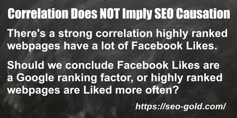 SEO Correlation Does NOT Imply SEO Causation