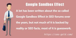 SEO Facts and the Google Sandbox Penalty
