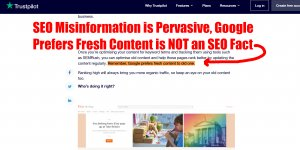 SEO Misinformation is Pervasive, Google Prefers Fresh Content is NOT an SEO Fact