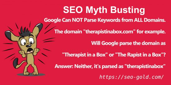 SEO Myth: Google Can Parse Keywords from ALL Domains
