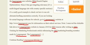 Short Piece of Search Engine Optimized Content