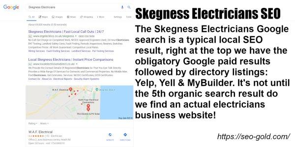 Skegness Electricians Google SEO