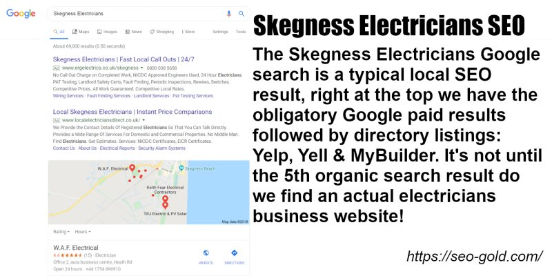 Skegness Electricians SEO
