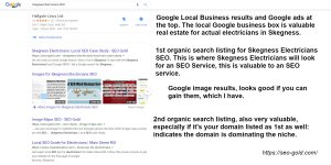Skegness Electricians Local SEO Google Rankings