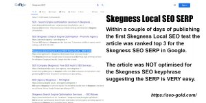 Skegness Local SEO SERP