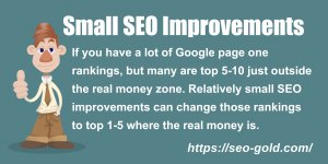 Small SEO Improvements Equals Big Gains