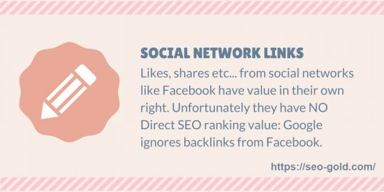 Social Network Links SEO Value Tip