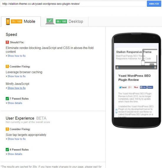 Stallion WordPress SEO Google Page Speed Insights