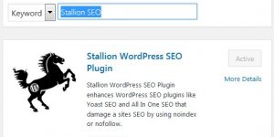 Install Stallion WordPress SEO Plugin