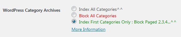 Stallion WordPress SEO Plugin Index First Category Page