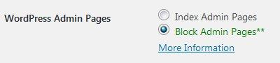Stallion WordPress SEO Plugin Not Index Admin Pages Options - FAIL