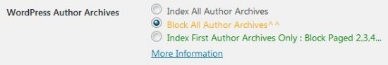 Stallion WordPress SEO Plugin Not Index Author Options