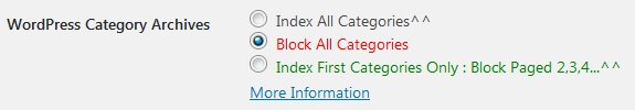 Stallion WordPress SEO Plugin Not Index Category Options