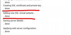 Successful Creation of a SSL Certificate and Private Key