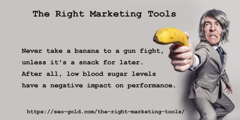 The Right Marketing Tools Quote