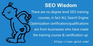 There are No Degree Level SEO Training Courses