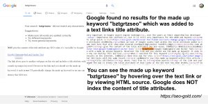 Title Attribute SEO Test of Text Links