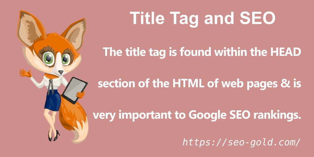 Title Tags are VERY Important to Google SEO Rankings