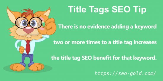 Title Tags Keyword Usage SEO Tip