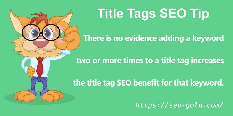 Title Tags Keyword Usage SEO Tip