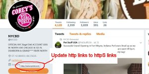 Update ALL http Links to httpS Links
