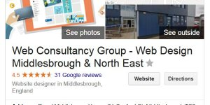 Web Consultancy Group Google Reviews