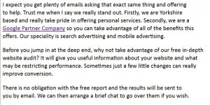 Web Consultancy Group SPAM Email Review