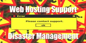 Web Hosting Support Disaster Management