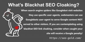 What is Black Hat SEO Link Cloaking?