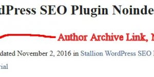 WordPress Author Archive Link, NOT Linked