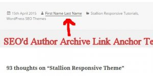 WordPress Author Archive Link SEO Anchor Text