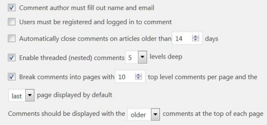 WordPress Break Comments Into Pages