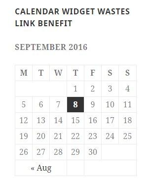 WordPress Calendar Widget Wastes Link Benefit