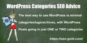 WordPress Categories SEO Advice