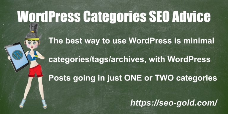 WordPress Categories SEO Advice