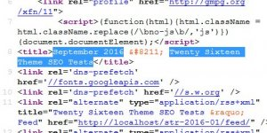 WordPress Date Archives Title Tag SEO