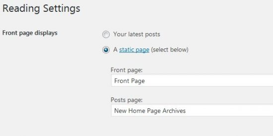 WordPress Front Page Displays A Static Page Posts Page
