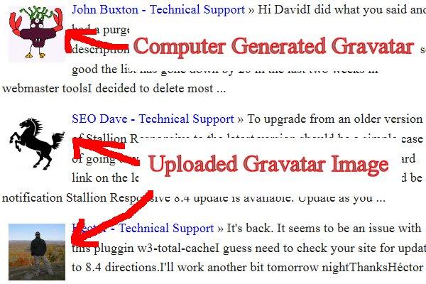 WordPress Gravatar Images