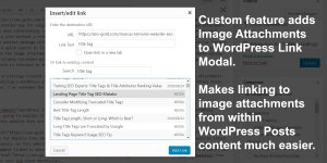 WordPress Image Attachments Added to the Link Modal