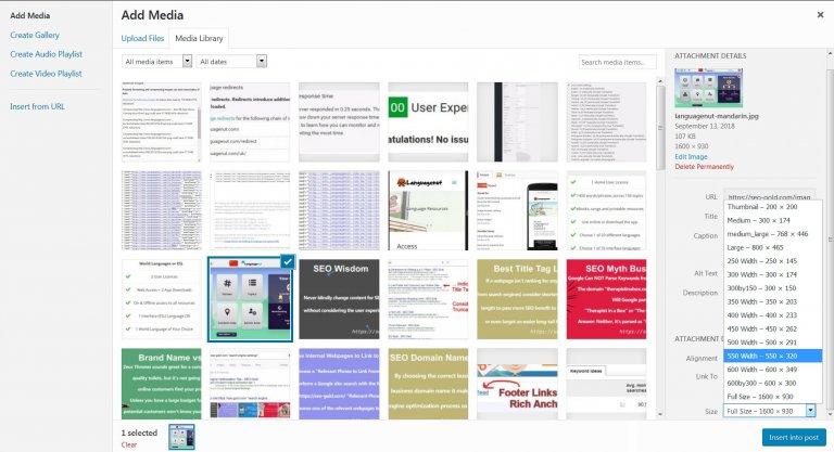 WordPress SEO Tips on Image Sizes