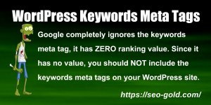 WordPress Keywords Meta Tags