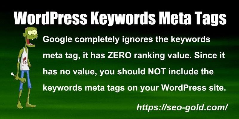 WordPress Keywords Meta Tags
