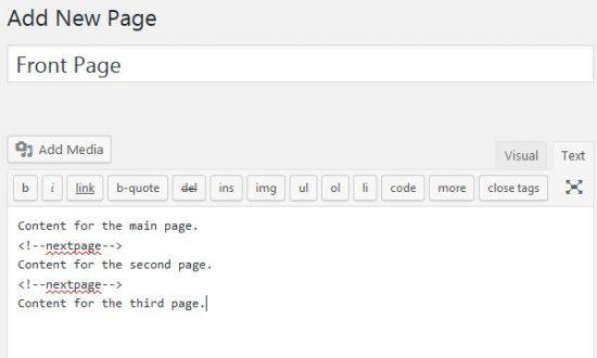 WordPress NextPage Pagination