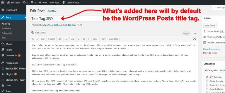 WordPress Posts Title Tag
