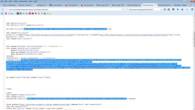 WordPress REST-API Exploited Content